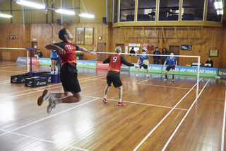 Top tertiary badminton players tustle for plaudits